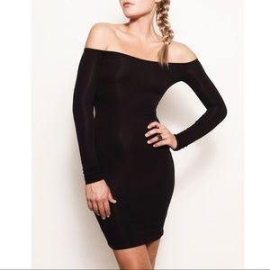 Off Shoulder Mini Dress Black S XS Club Bardot